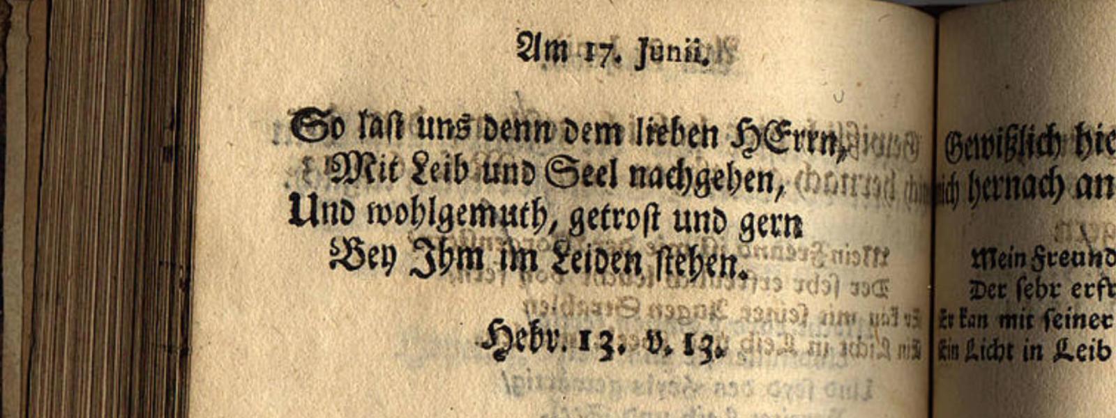 Herrnhuter Losungen Archiv